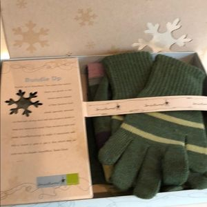 Smart wool Stripeuccino Hat, glove and Scarf set